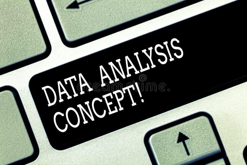 Inscription de la note montrant le concept d'analyse de données Données de évaluation de présentation de photo d'affaires utilisa photographie stock libre de droits