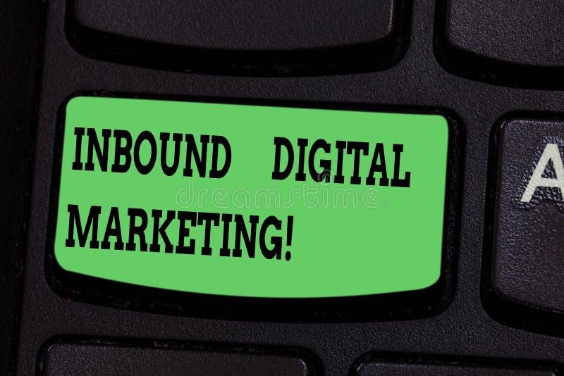 Inscription de la note montrant le marketing d'arrivée de Digital Éléments de présentation de photo d'affaires employés pour se r illustration de vecteur