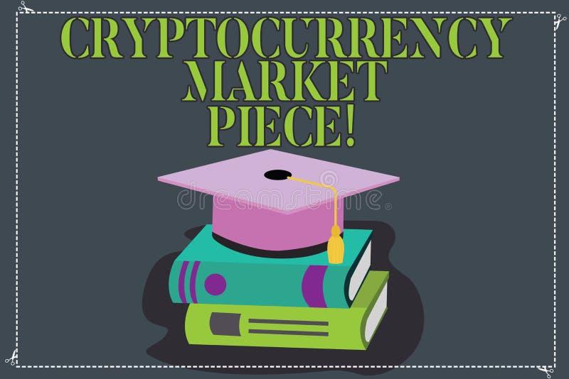 Inscription de la note montrant le morceau du marché de Cryptocurrency Photo d'affaires présentant les capitaux de Digital qui pe illustration de vecteur