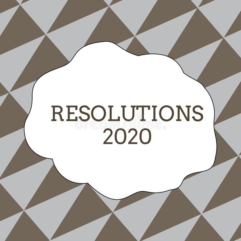 Inscription de la note montrant les résolutions 2020 La liste de photo d'affaires de choses de pr?sentation souhaite ?tre enti?re photo stock