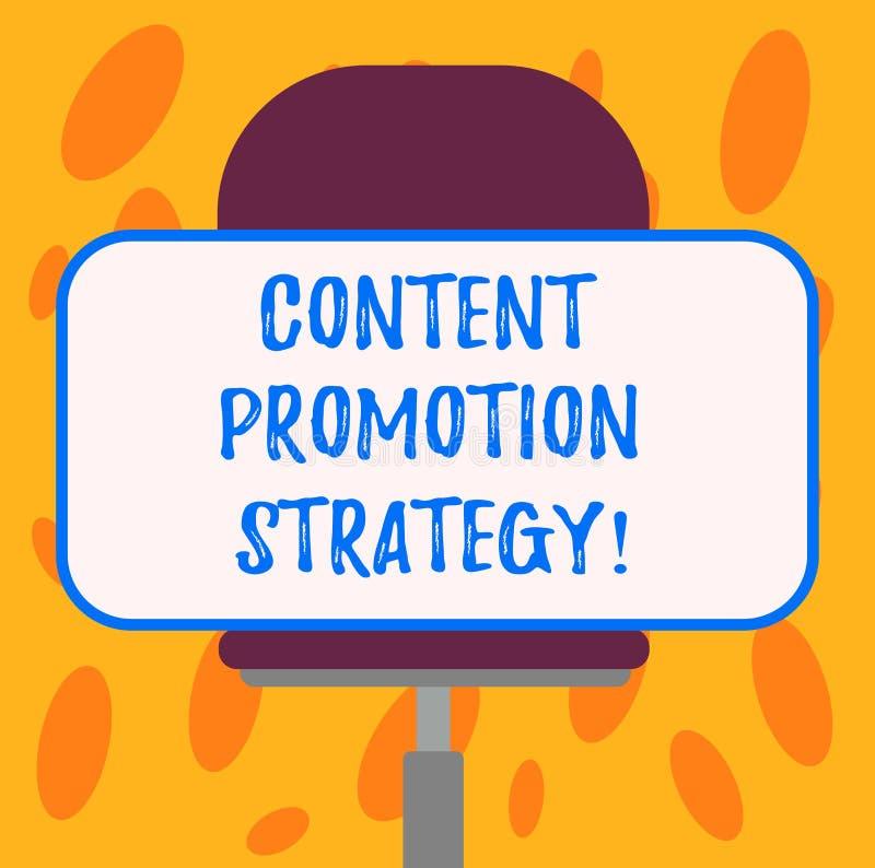 Inscription de la note montrant la stratégie satisfaite de promotion Photo d'affaires présentant pour engager dans l'assistance a illustration de vecteur
