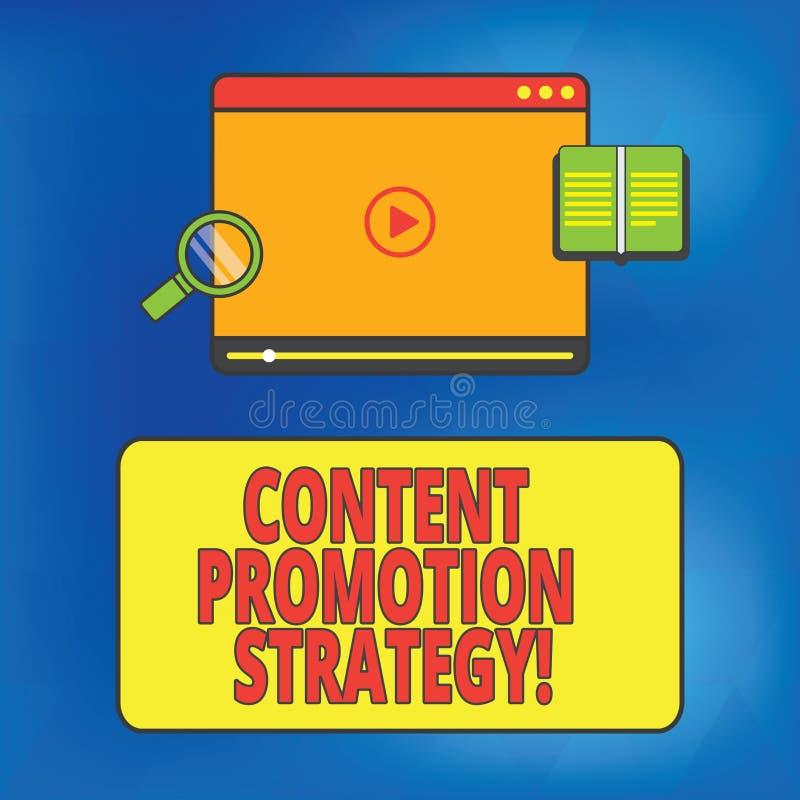 Inscription de la note montrant la stratégie satisfaite de promotion Photo d'affaires présentant pour engager dans l'assistance a illustration libre de droits