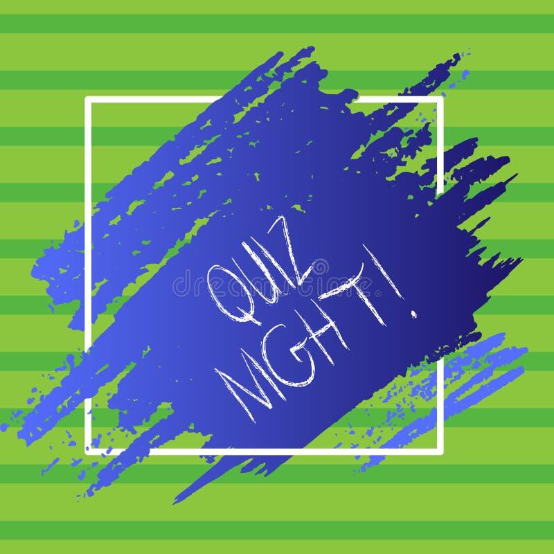 Inscription de la nuit de jeu-concours d'apparence de note Photo d'affaires présentant égalisant la concurrence de la connaissanc illustration libre de droits