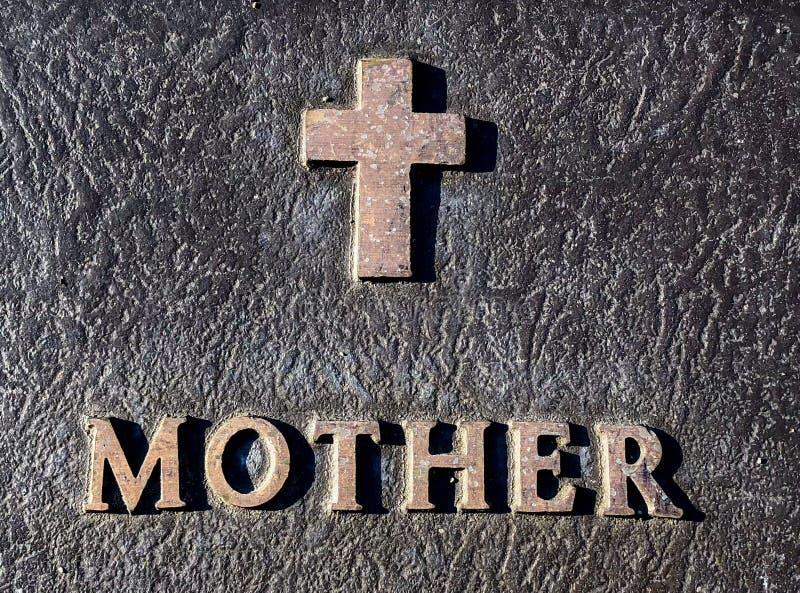Inscription de mère photographie stock libre de droits