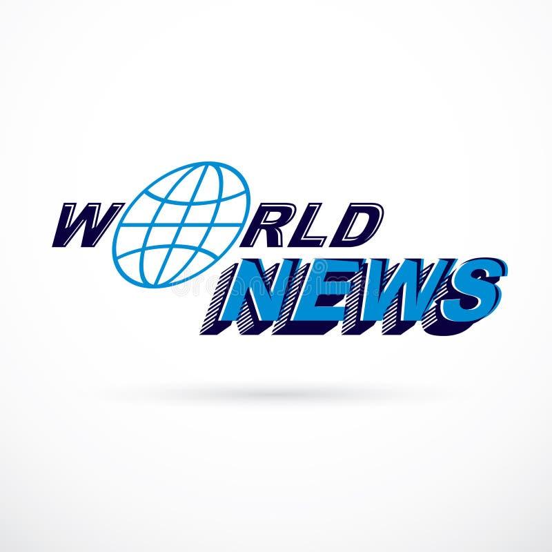 Inscription de nouvelles du monde, illustration de vecteur Repo d'actualités et de faits illustration stock
