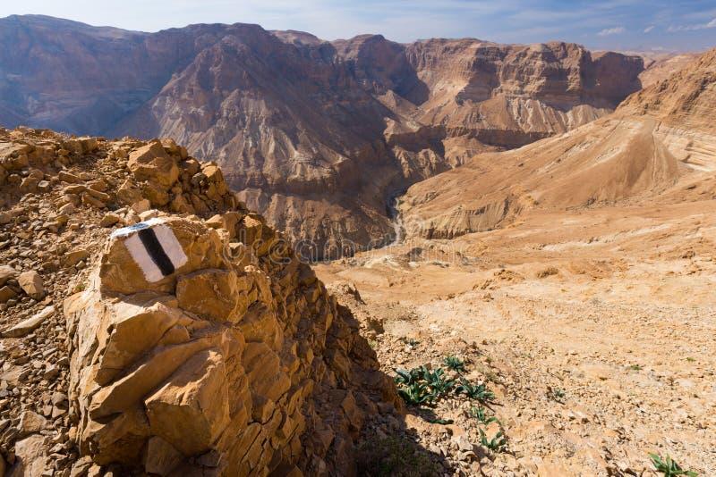 Inscription de traînée de désert photographie stock libre de droits