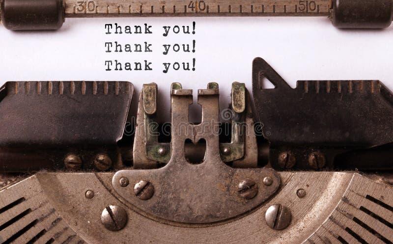 Inscription de vintage faite par la vieille machine à écrire photographie stock libre de droits