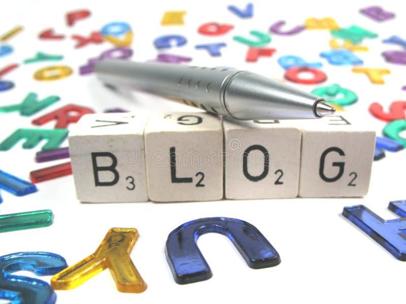 Inscription de votre propre blog sur l'Internet photographie stock