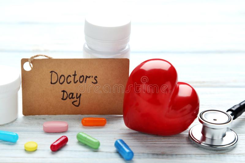 Inscription Doctors Day royalty free stock images