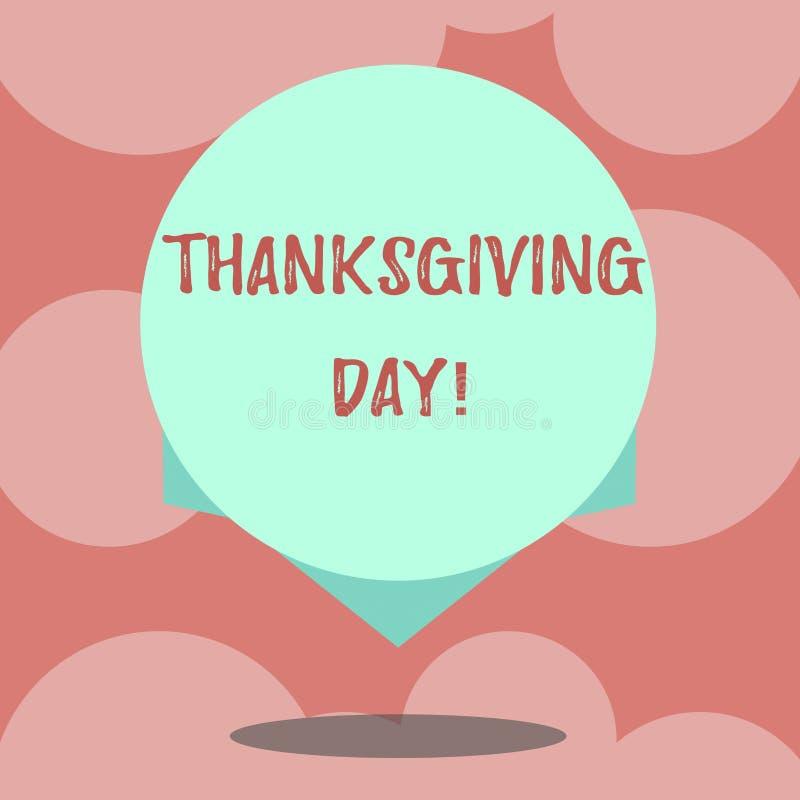 Inscription du jour de thanksgiving d'apparence de note Photo d'affaires présentant célébrant la couleur de blanc de vacances de  illustration de vecteur