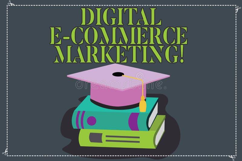 Inscription du marketing de commerce électronique de Digital d'apparence de note Achats de photo d'affaires et vente de présentat illustration libre de droits