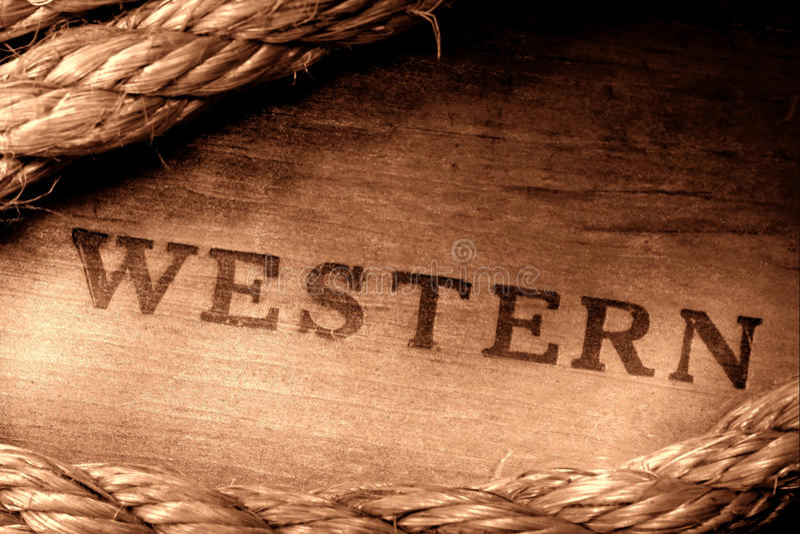 Inscription estampée occidentale de rodéo occidental américain