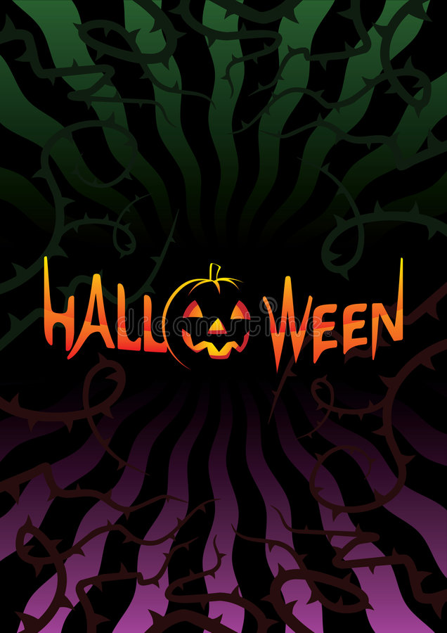 Download Inscription Halloween On Dark Background Stock Photos - Image: 6416333