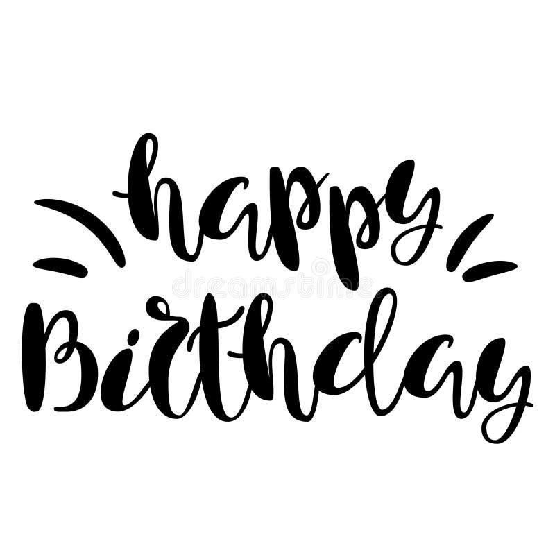 Inscription Happy Birthday Lettering Design