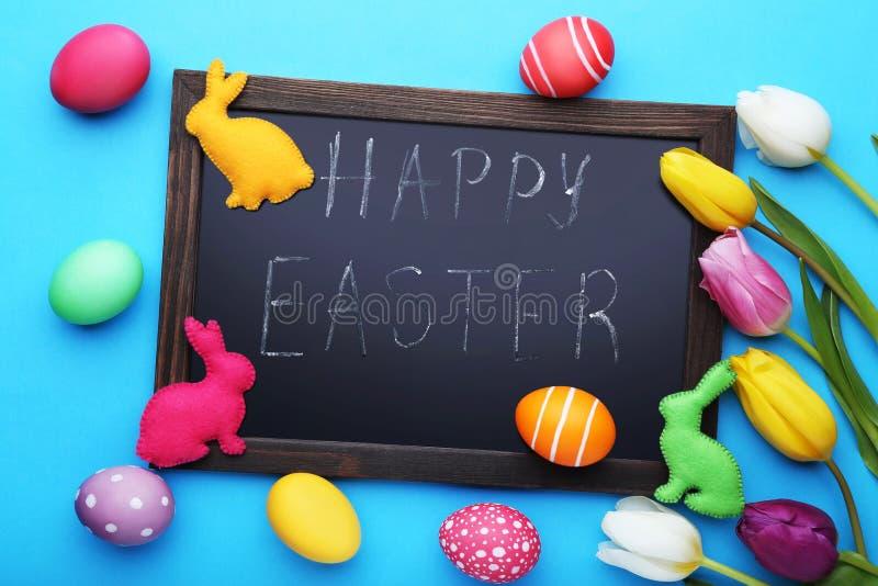 Inscription Happy Easter stock photos