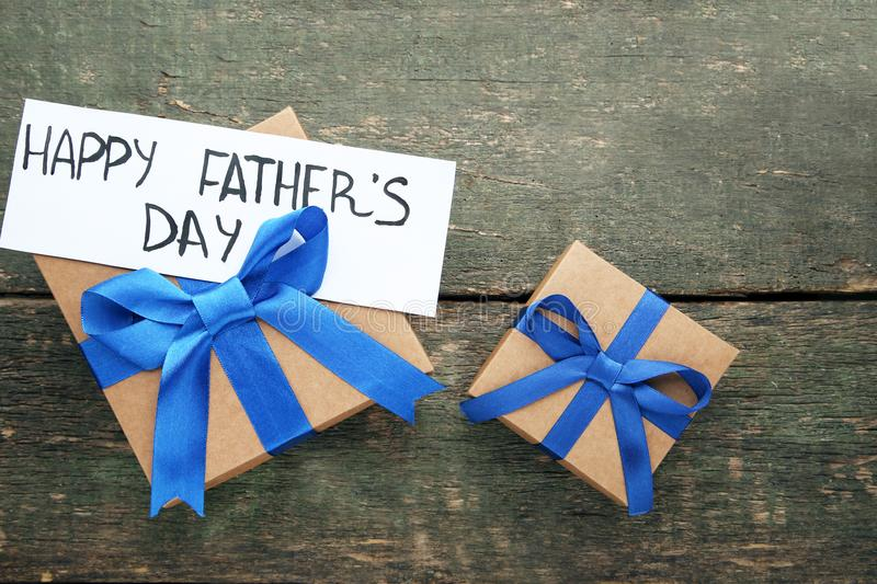 Inscription Happy Fathers Day royalty free stock photography
