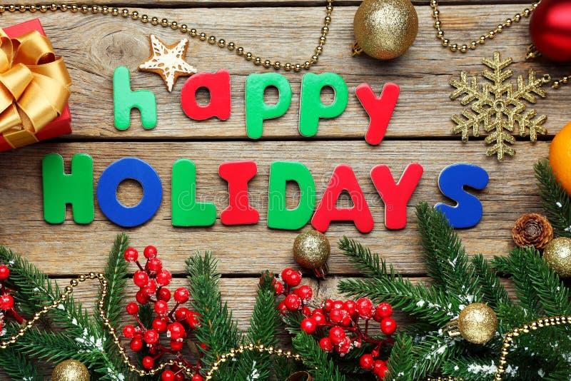 Inscription Happy Holiday royalty free stock image