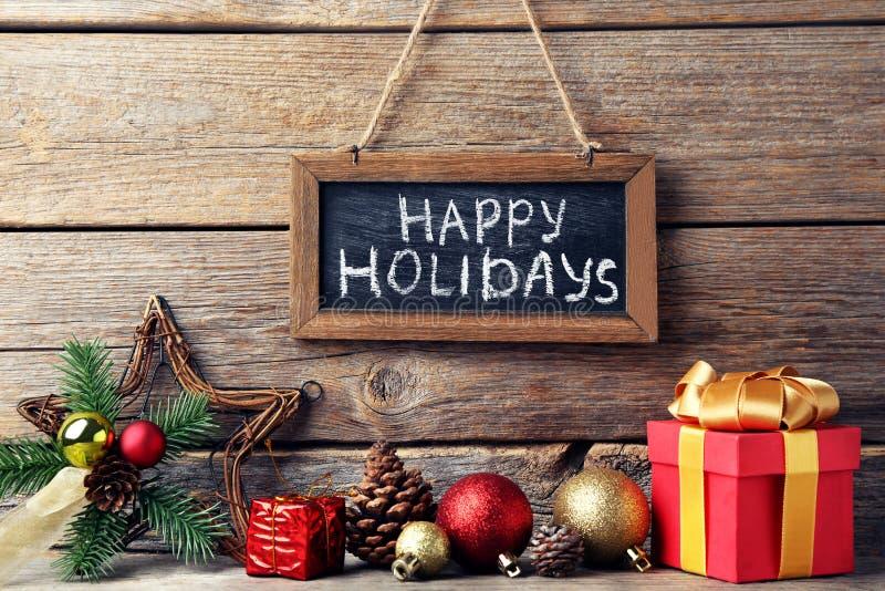 Inscription Happy Holiday royalty free stock photo
