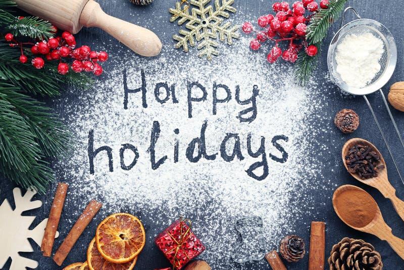 Inscription Happy Holidays stock image