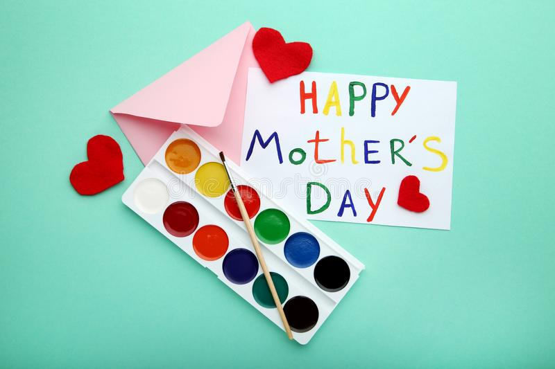 Inscription Happy Mothers Day royalty free stock images