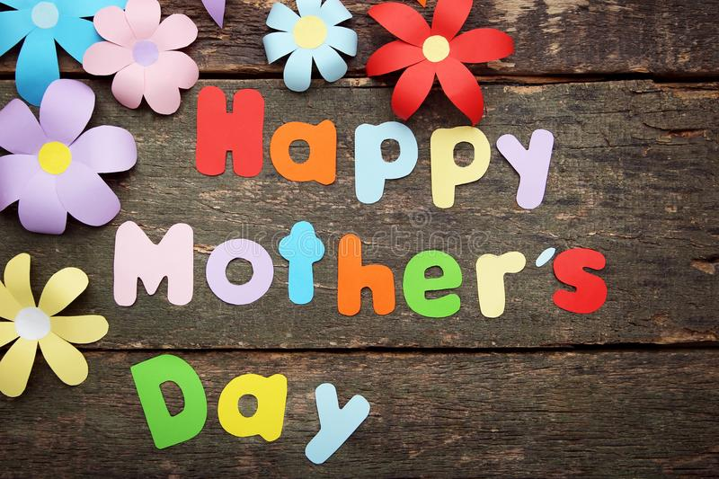 Inscription Happy Mothers Day royalty free stock photography