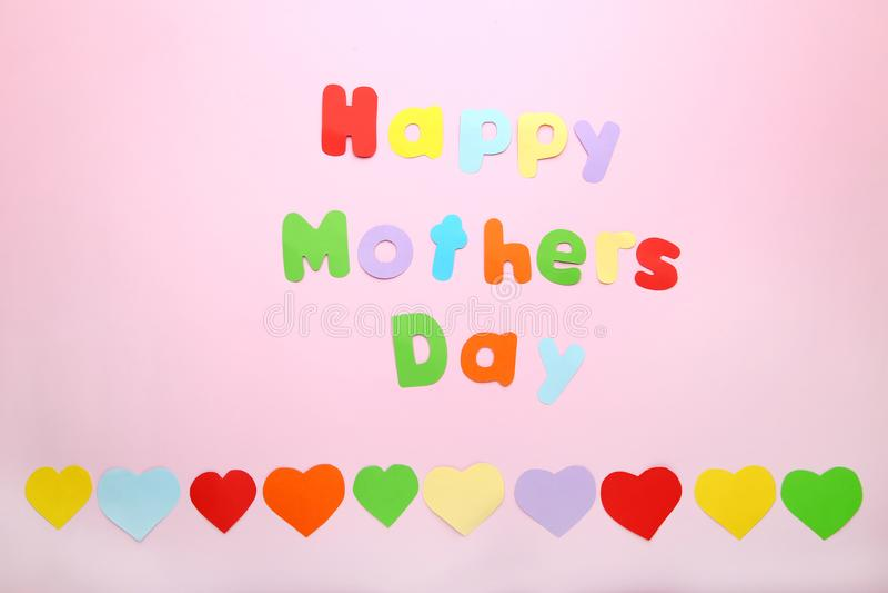 Inscription Happy Mothers Day royalty free stock photo