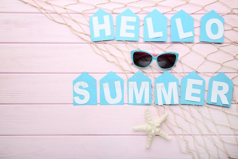 Inscription Hello Summer royalty free stock photography
