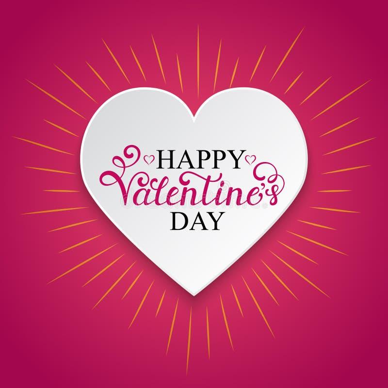 Inscription heureuse de jour de Valentine s illustration stock