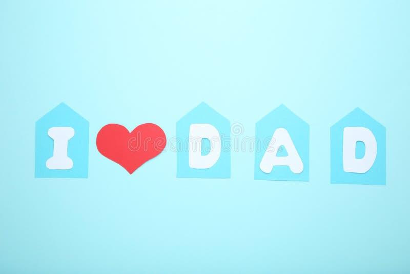 Inscription I Love Dad stock image