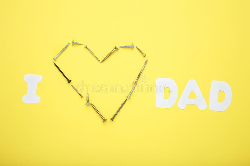 Inscription I Love Dad royalty free stock images