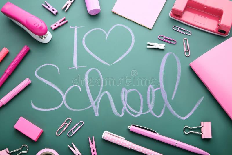 Inscription I Love School royalty free stock photos