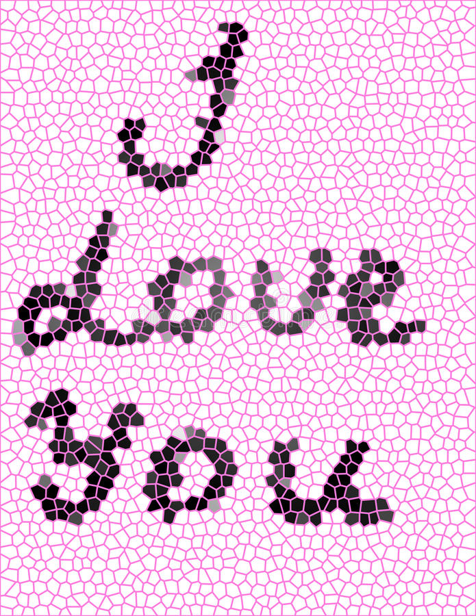 The inscription `I love you` royalty free stock images