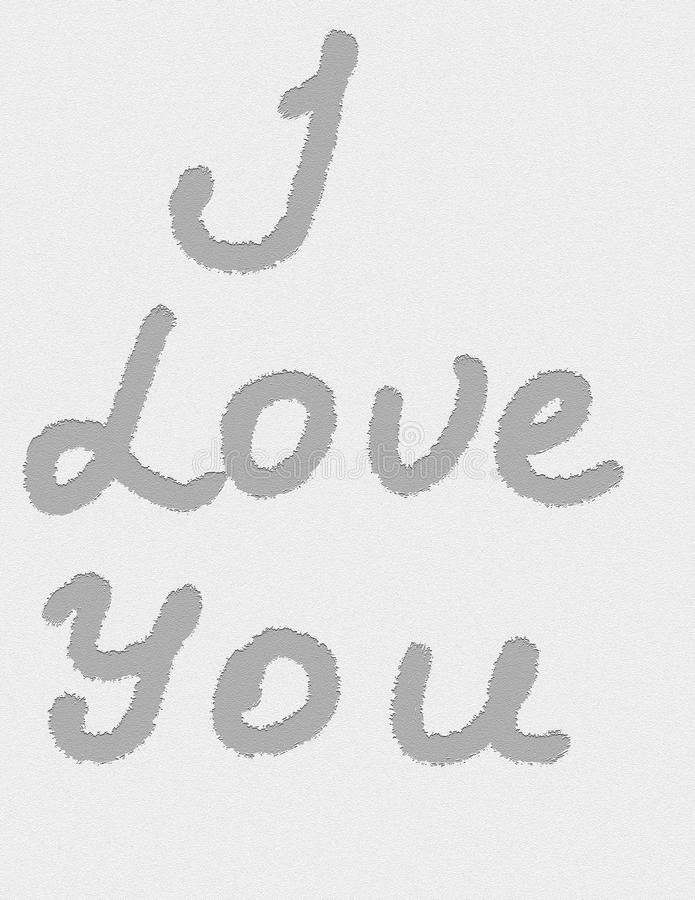 The inscription `I love you` stock images