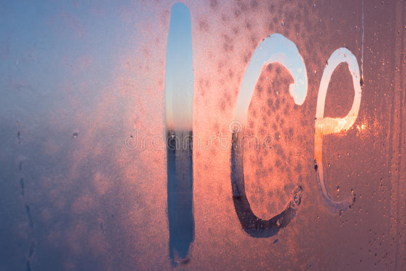 Download Inscription ice stock photo. Image of liquid, language - 83723908