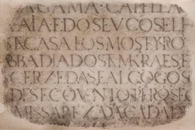 Inscription latine antique photo stock