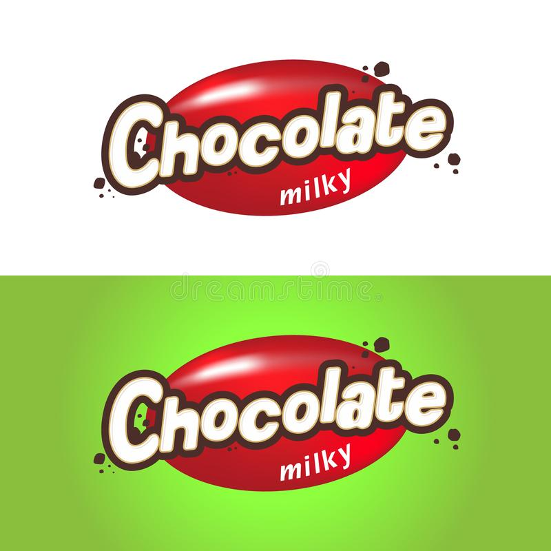 The inscription is milk chocolate. Emblem for your design, chocolate packaging, candy, cake. Vector. Illustration royalty free illustration
