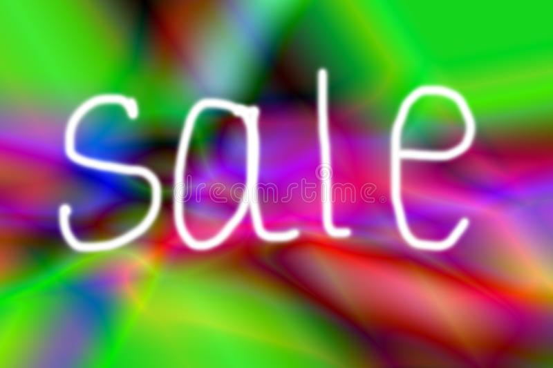 Inscription sale on a neon gradient background. Handwritten inscription sale on a neon gradient background. Project for your banner royalty free stock image