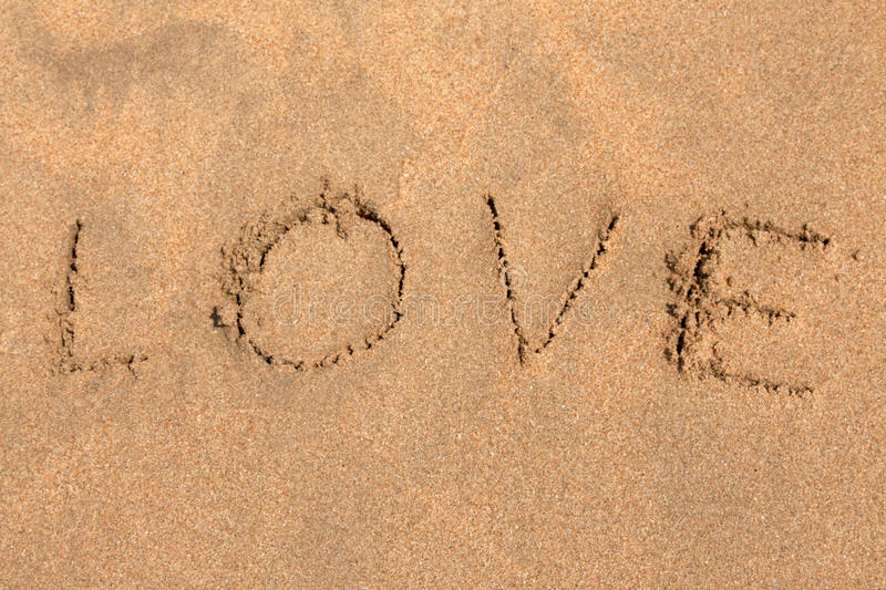 Download Inscription on sand LOVE stock photo. Image of write - 12890818