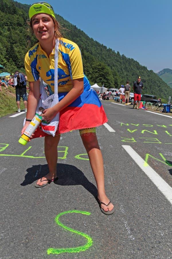 Inscription sur la route photo stock