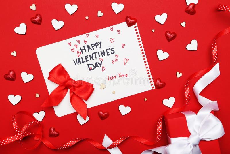 Inscription Valentine Day heureux photos stock