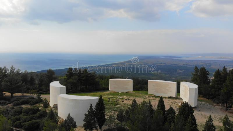 Inscriptions. Chunuk Bair Inscriptions in Gallipoli - Canakkale stock photos