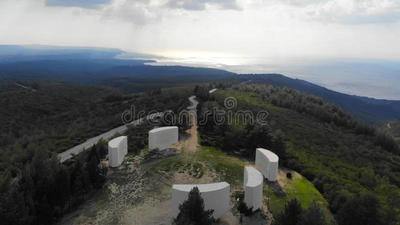 Inscriptions. Chunuk Bair Inscriptions in Gallipoli - Canakkale royalty free stock images