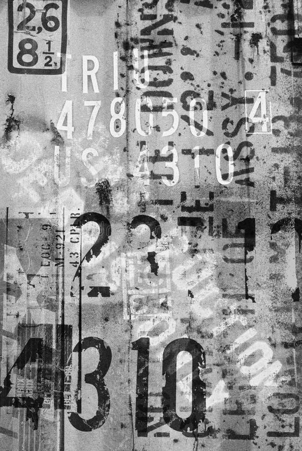 Inscriptions de bord de la route images stock