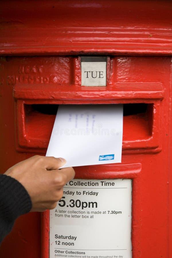 Inscrire une lettre photographie stock libre de droits