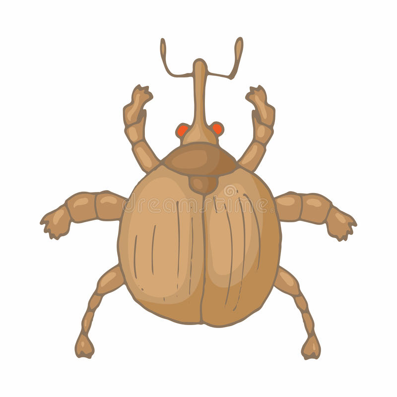 Insect bug icon, cartoon style stock illustration