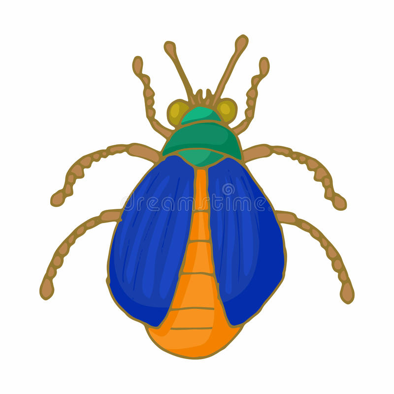 Insect bug icon, cartoon style royalty free illustration