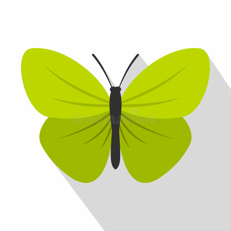 Insect butterfly with small wings icon, flat style. Insect butterfly with small wings icon. Flat illustration of insect butterfly with small wings vector icon vector illustration