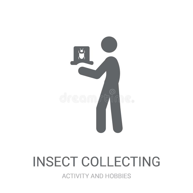 Insect collecting icon. Trendy Insect collecting logo concept on. White background from Activity and Hobbies collection. Suitable for use on web apps, mobile vector illustration