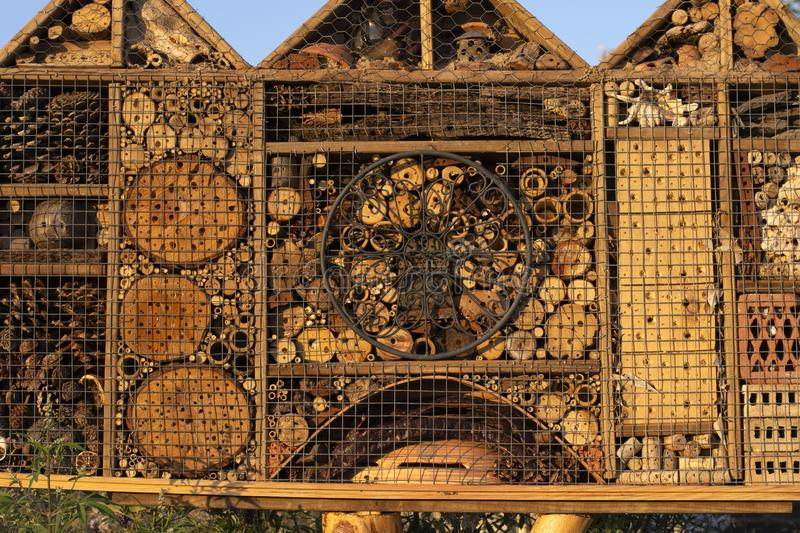 Insect hotel seen closely . image. Insect hotel seen closely background stock image
