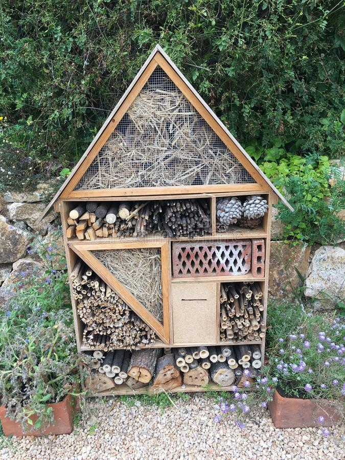 Insect house stock photos